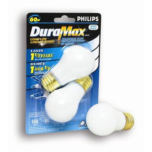 60W Fan & Garage Door White Bulb 2Pk