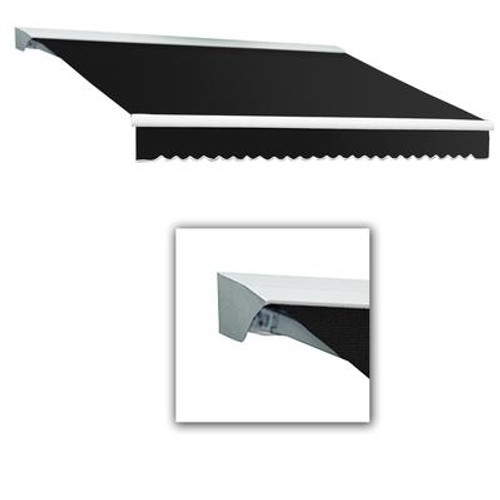 10 Feet DESTIN (8 Feet Projection) Motorized (left side) Retractable Awning with Hood - Black