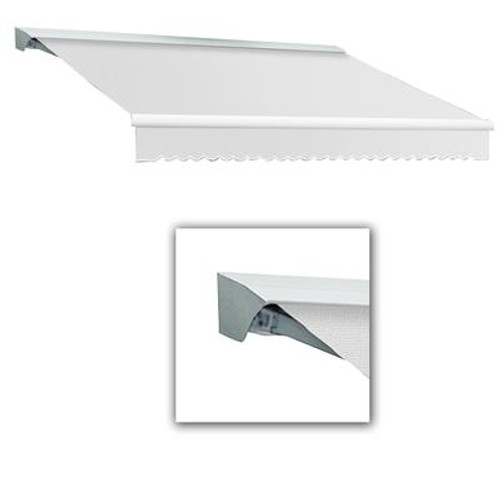 10 Feet DESTIN (8 Feet Projection) Manual Retractable Awning with Hood - Off-White