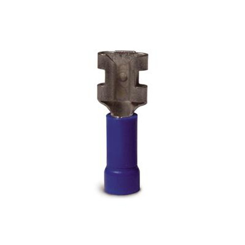 Disconnect Vinyl-Insulated Barrel-Female 16-14 AWG Tab: 0.25 In Blue 100/Clam