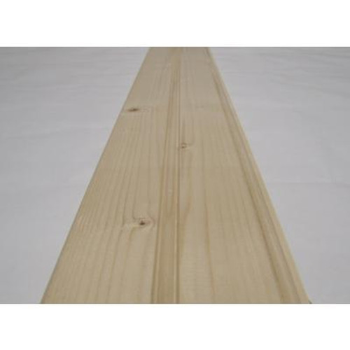 5/16 Inch x 4 Inch - 8 Feet Pine Knotty Edge and Centre Beaded Pattern