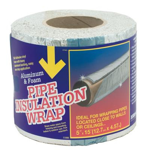 Foam Pipe And Duct Wrap 2 inch X 15 foot