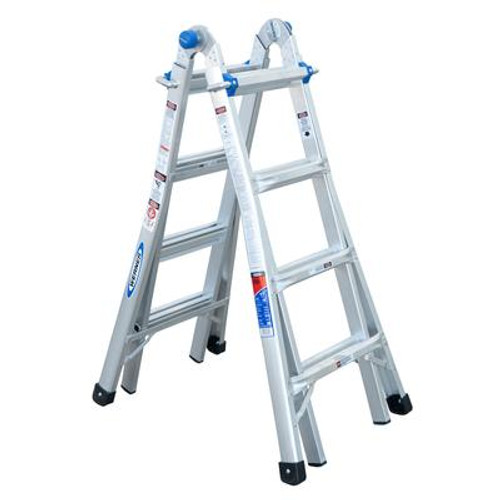 Aluminum Telescoping Multi-Purpose  Ladder Grade 1A (300# Load Capacity) - 17 Feet