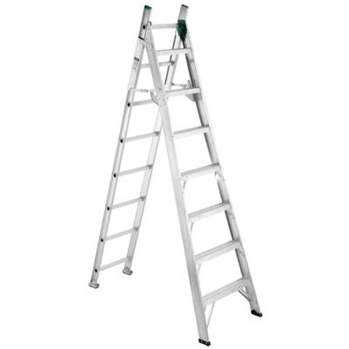 Aluminum Combo Ladder Grade 2 (225# Load Capacity) - 8 Feet Step/13 Feet Extension