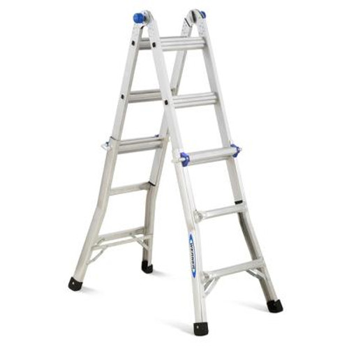 Aluminum Telescoping Multi-Purpose Ladder Grade 1A (300# Load Capacity) - 13 Feet