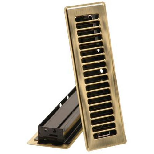 3  x 10  Floor Register - Brass