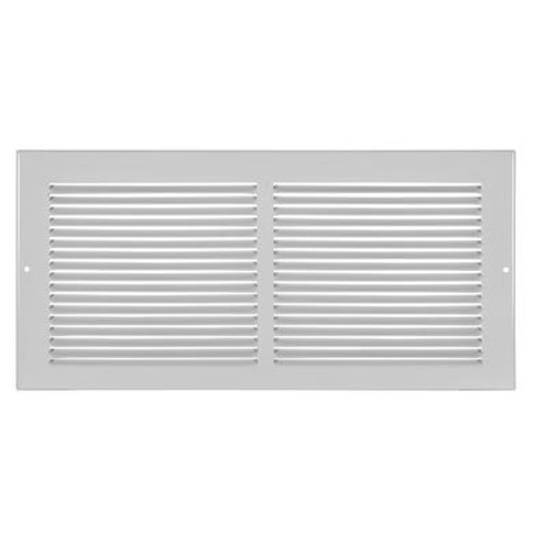 14  x 6  Baseboard Return Air Grille - White
