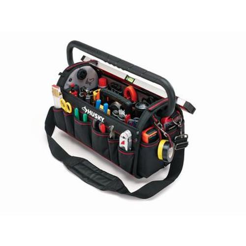 Husky 20 inch Pro Tool Bag W Tool Wall