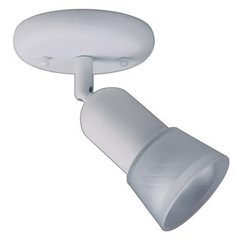 1 Light Semi-Flushmount Ceiling Fixture Matte White Finish Frosted Etched Glass Shade