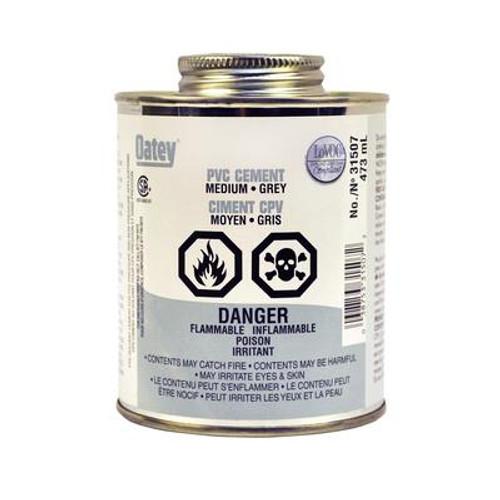473 Ml Med Gray Pvc Cement(S)