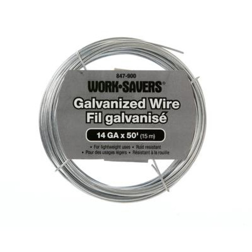 Galv. Wire-Steel Coiled 14G X 15M