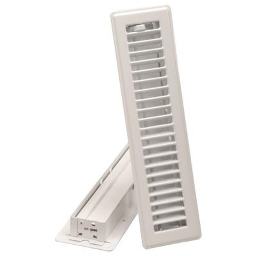 2 1/4  x12  Floor Register - White