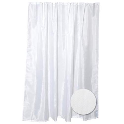 Fabric Shower Liner - White