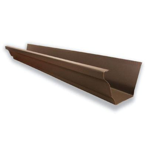Aluminum Gutter - Brown - 5 Inch X 10 Feet