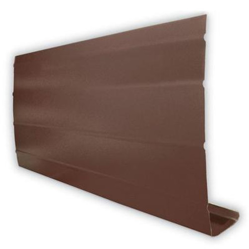 Aluminum Fascia Cover - Brown - 1 Inch X 8 Inches X 10 Feet