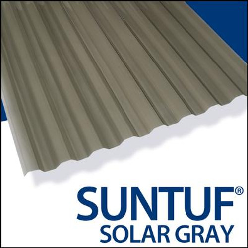 Suntuf Cor. Pc 8  Feet  Solar Grey