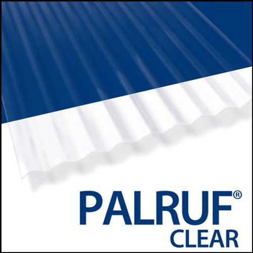 Palruf Cor. Pvc 8  Feet . Clear