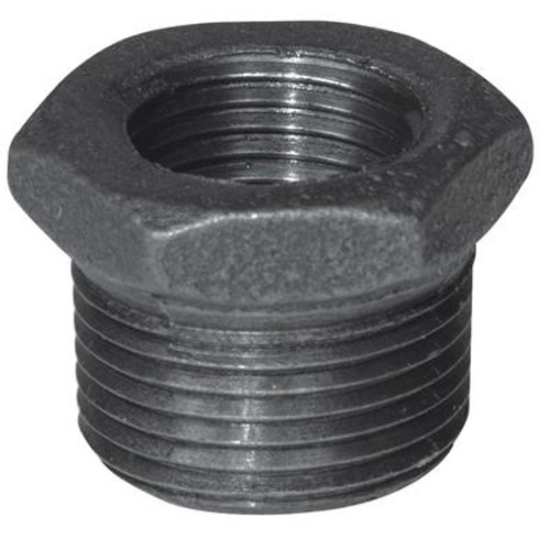 Fitting Black Iron Hex Bushing 1 Inch x 3/4 Inch