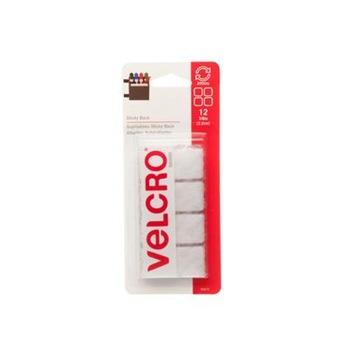 Velcro 7/8 in. Sticky Back Squares 12 Pack