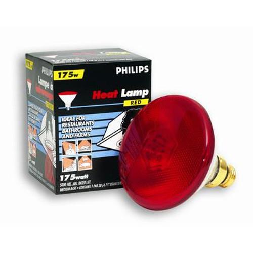 175W PAR38 Heat Lamp Clear Hard Glass