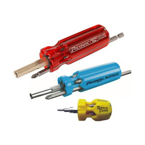 Family Pack 3 Piece multbit screwdriver set.