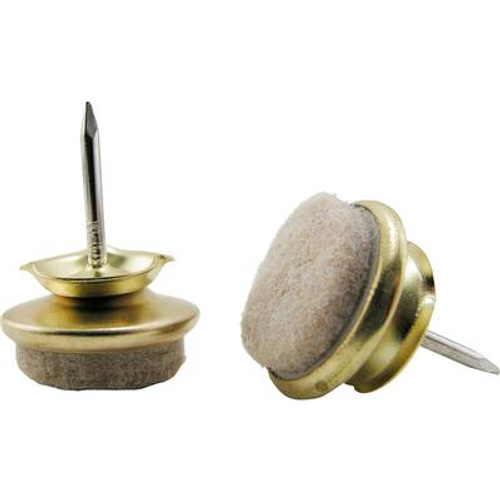 1 Inch  Felt Base Nail-On Swivel Glide