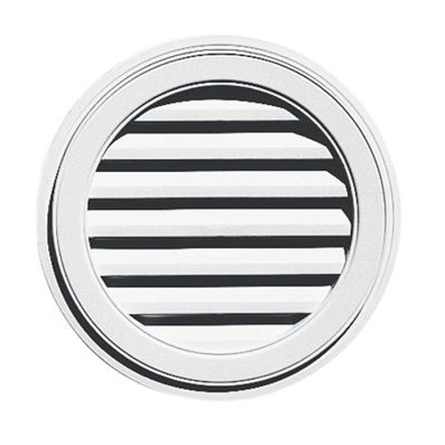 22 inches Round Vent White