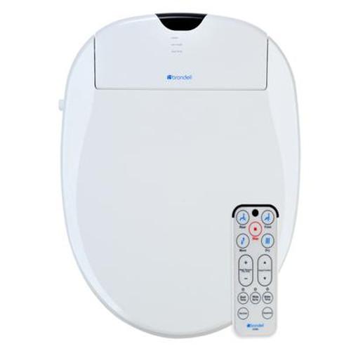 White Round Heated Bidet Toilet Seat-S1000