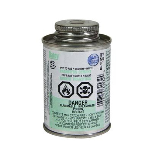 118Ml Transition Cement Abs-Pvc(S)