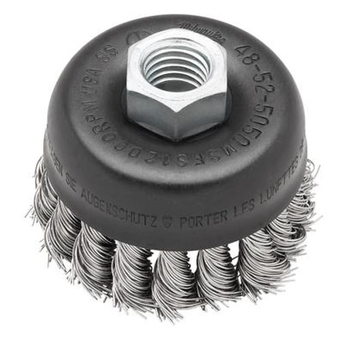 3 Inch Knot Wire Cup Brush - Stainless Steel