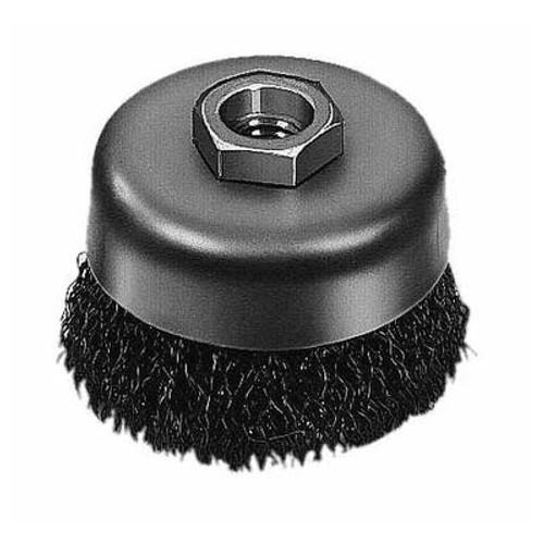 3 Inch Crimped Wire Cup Brush- Carbon Steel