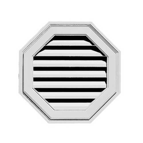 22 inches Octagon Vent White
