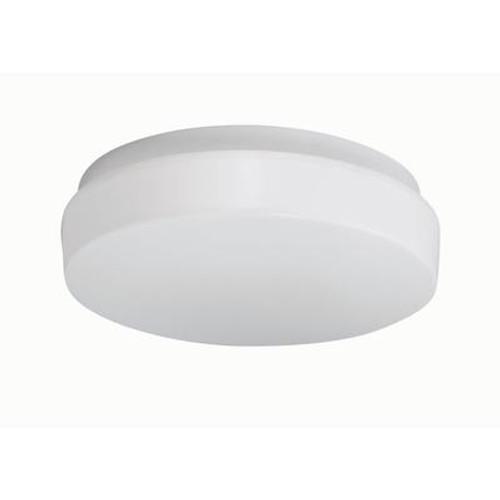 1 Light Flushmount White Finish White Acrylic Shade