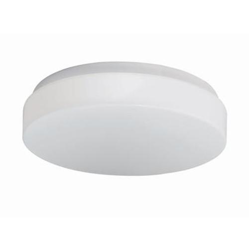 1+1 Light Flushmount White Finish White Acrylic Shade