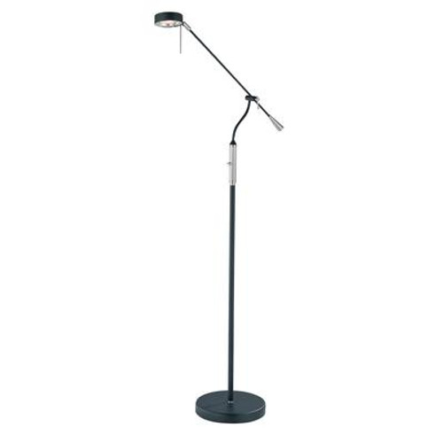 1 Light Floor Lamp Steel Finish