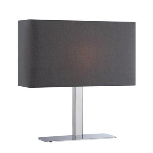 1 Light Table Lamp Black Finish Black Fabric Shade