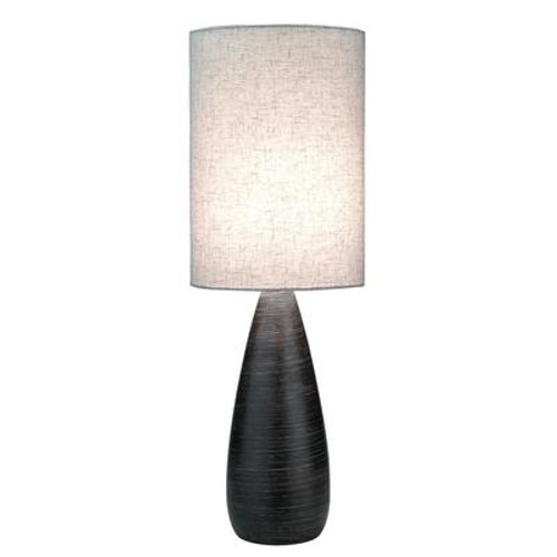 1 Light Table Lamp Bronze Finish Linen Shade