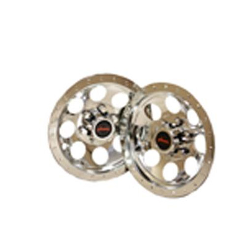 10 Inch Chrome Wheel Covers for Riding Lawn Mowers (2-Pack)