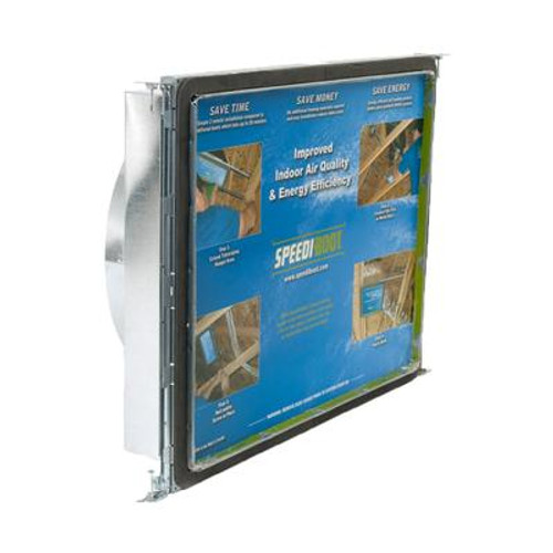 14 in. x 24 in. x 10 in.Square to Round Adaptor Register Vent Boot with Adj. Hangers for HVAC Duct Work