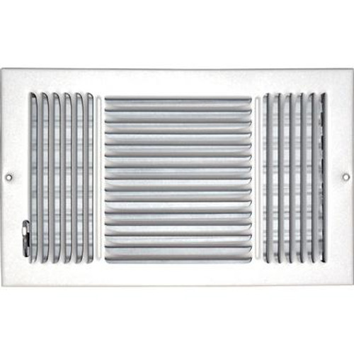 8 in. x 14 in. Hands Free Ceiling or Wall Register Cover with 2 Way Deflection