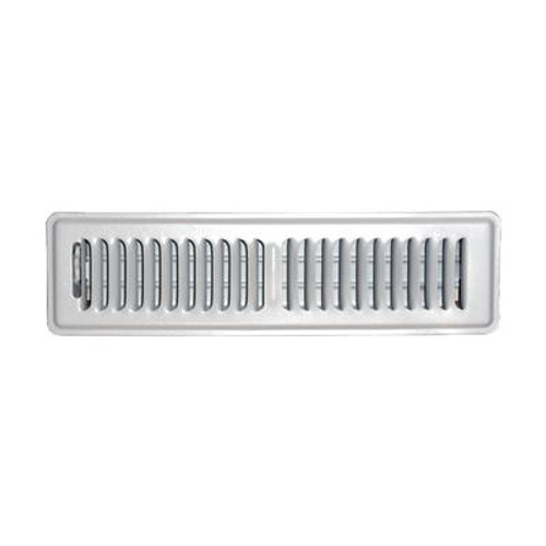2 in. x 12 in. White Floor Register Vent Cover