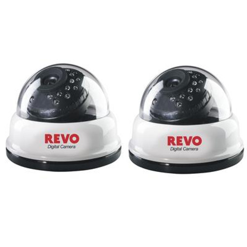 2 Pack24IR 540TVL dome cameras