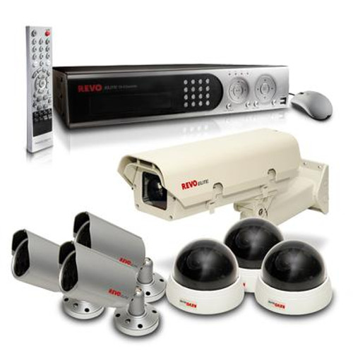 Commercial Grade professional Surveillance Bundle with 16 Channel DVR and 7 Cameras