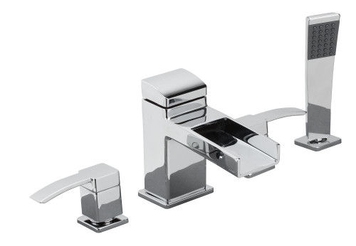 Kamato Four Hole Roman Tub Filler Chrome
