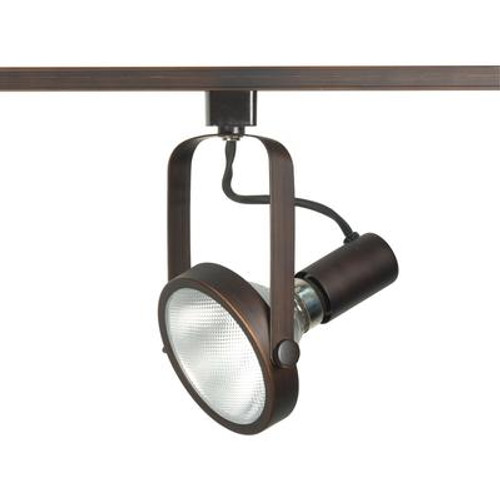 1-Light  PAR30 Gimbal Ring Track Head Finished in Russet Bronze