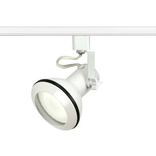 1-Light  PAR30 Euro Style Track Head Finished in White