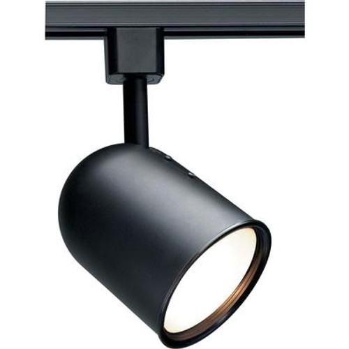 1-Light  CFL R30 Bullet Cylinder Track Head Finished in Black