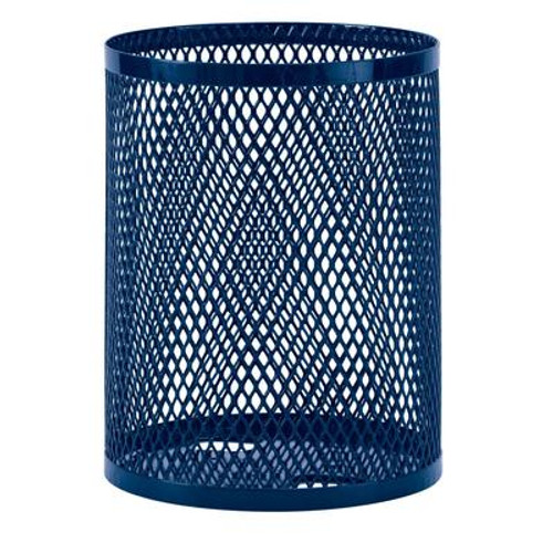 32 Gallon Commercial Trash Receptacle- Blue