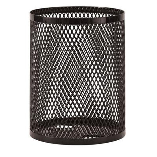 32 Gallon Commercial Trash Receptacle- Black