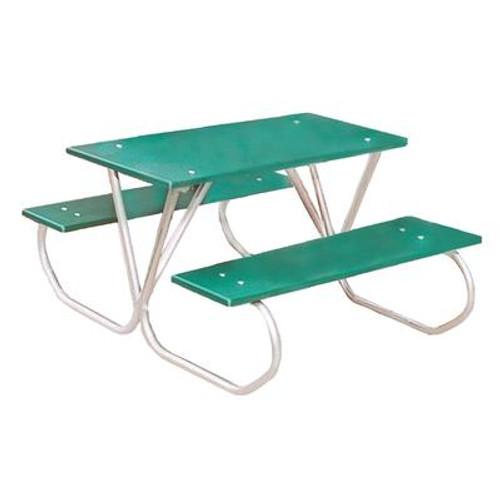 3 ft Commercial Plastic Preschool Table- Green